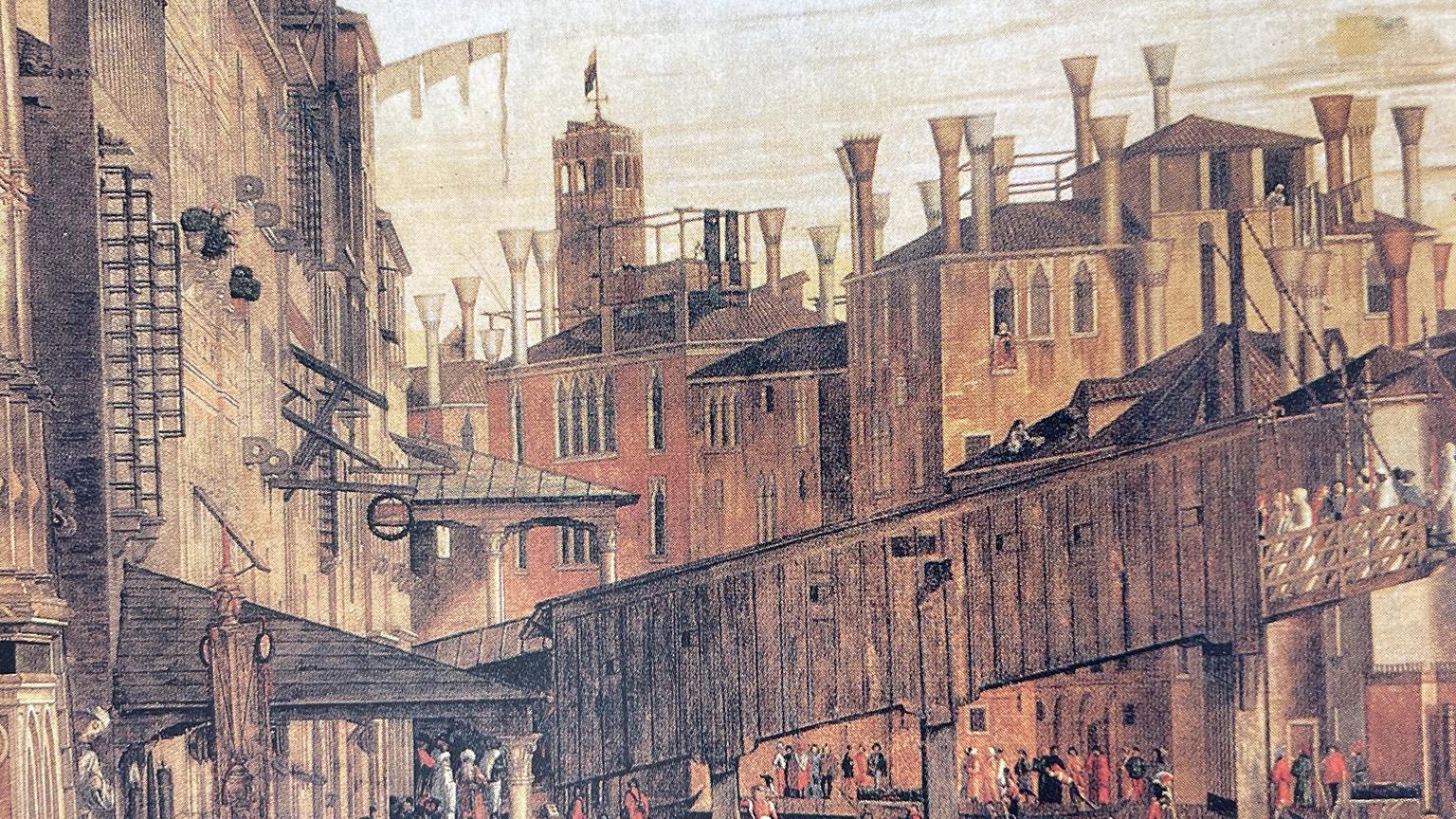 Comignoli sui tetti di Venezia - Dettaglio